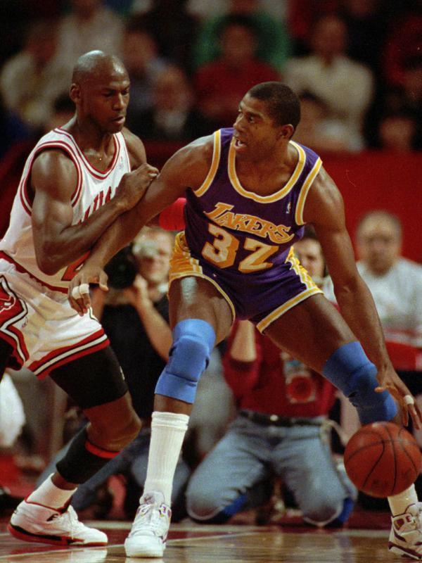Magic Johnson against Michael Jordan