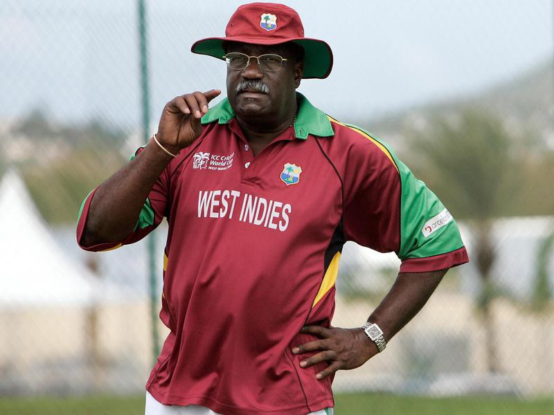 Clive Lloyd watches their players