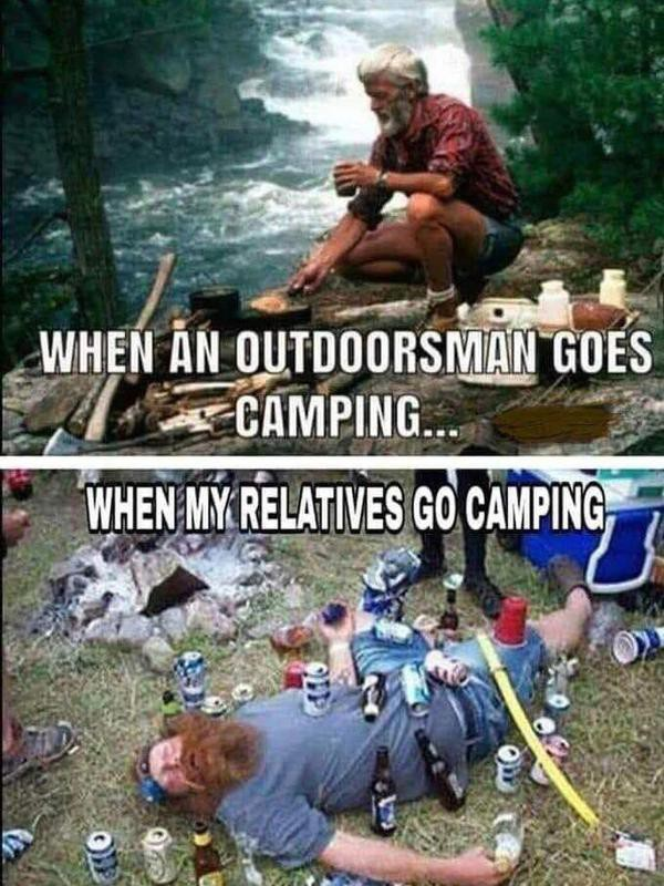Family camping meme