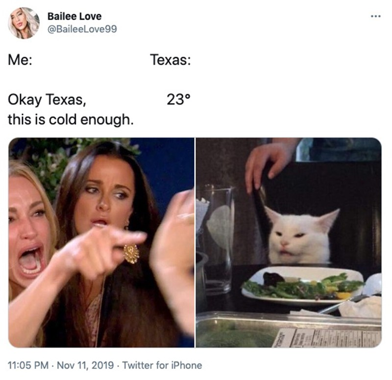 Cold weather in Texas