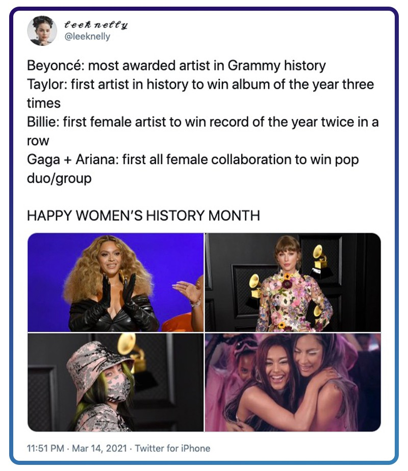 Women at the Grammys