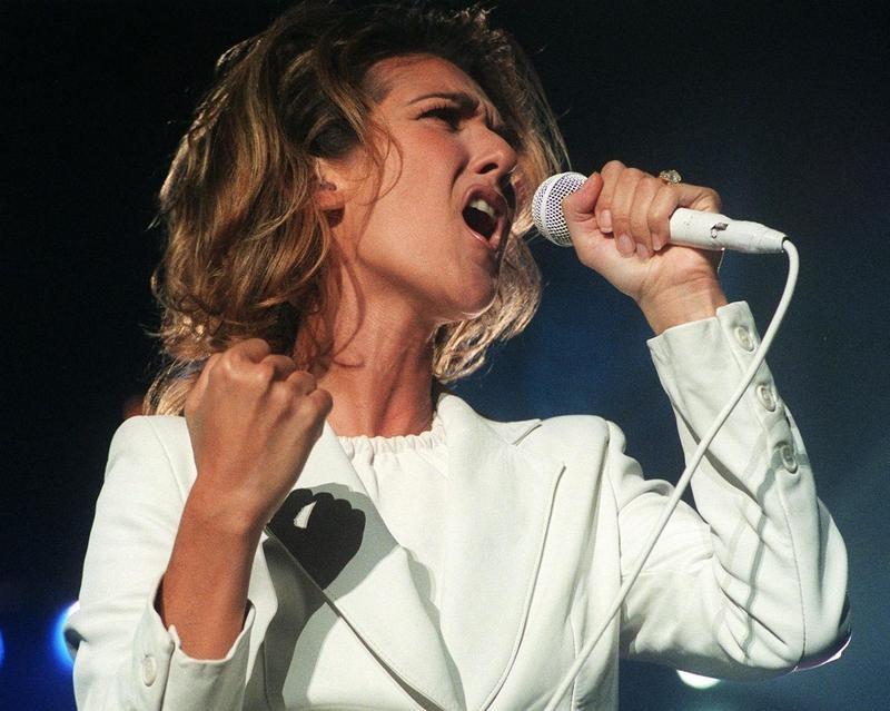 Celine Dion in 1996