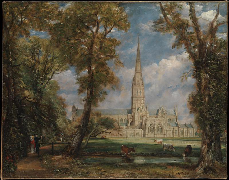 """""""Salisbury Cathedral from the Bishop's Grounds"""""""