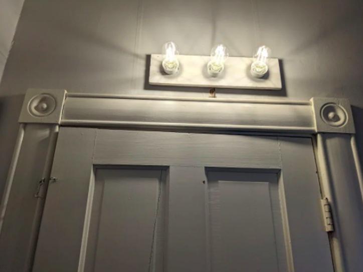 Light fixture not centered