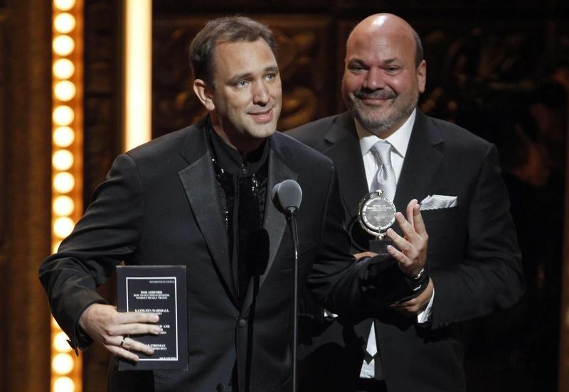 "Trey Parker accepts Tony Award for ""The Book of Mormon"""