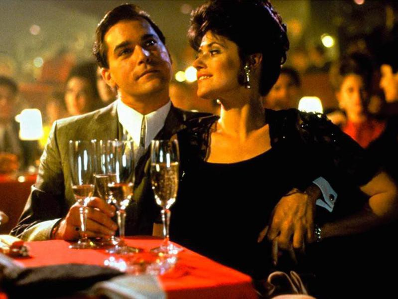 Ray Liotta and Lorraine Bracco in Goodfellas