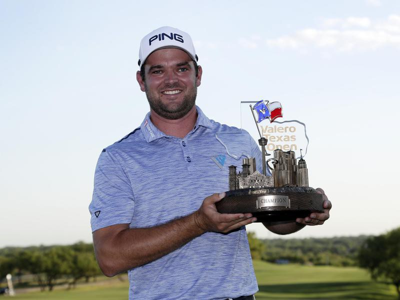 Corey Conners after winning the 2019 Valero Texas Open