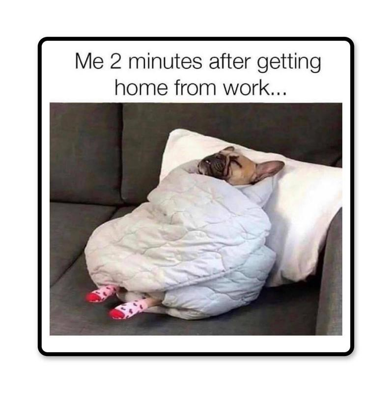 Home from work