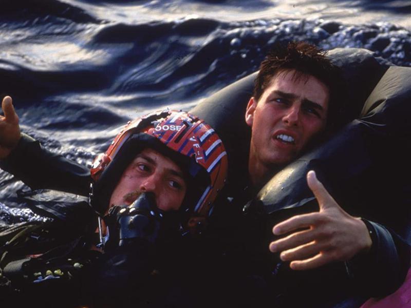 Tom Cruise and Anthony Edwards