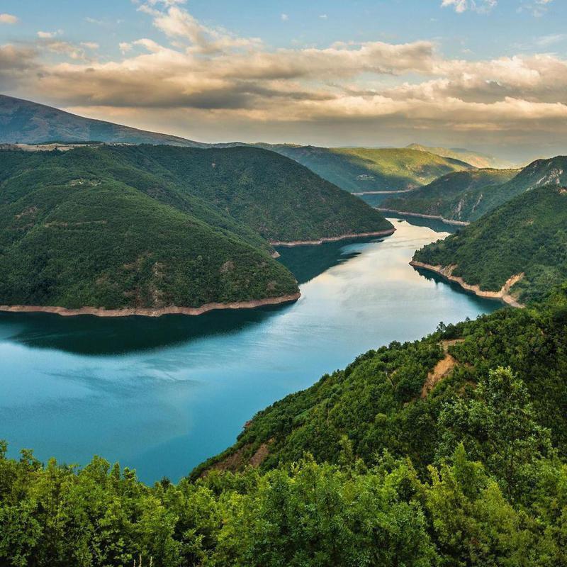 Lake Komani in Albania