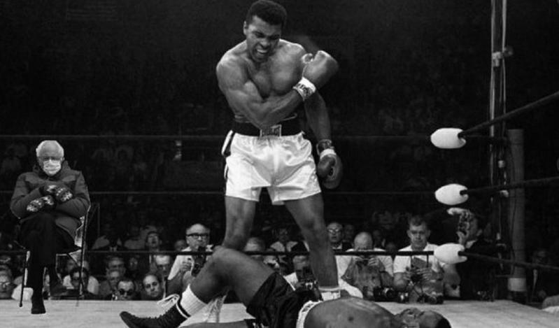 Bernie Sanders with Muhammad Ali