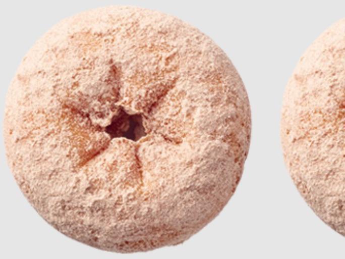 Powdered Cinnamon Cake Donut