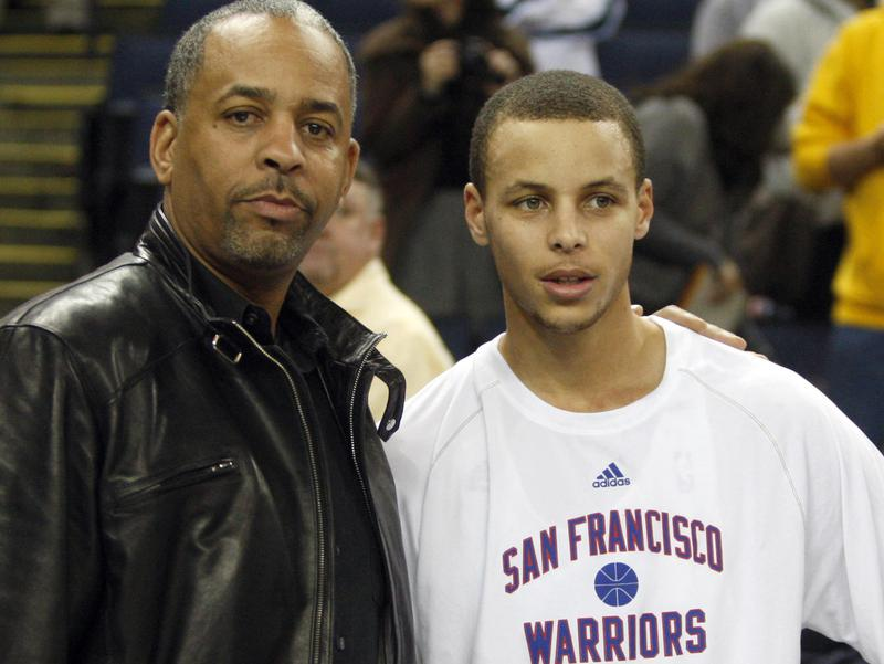 Dell Curry and Steph Curry