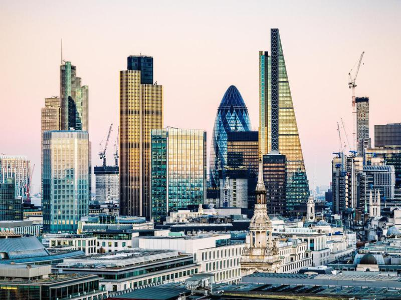 Skyscrapers in City of London
