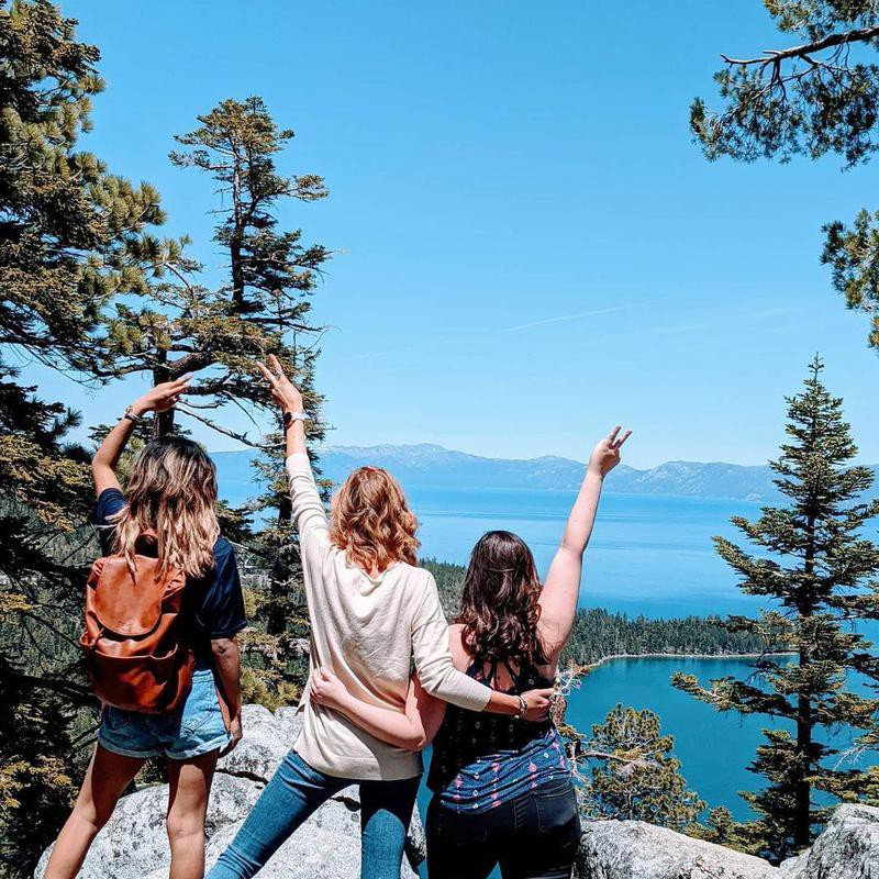 Friends in Lake Tahoe, California