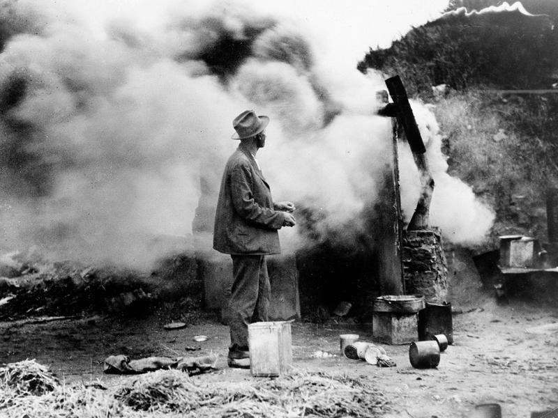 A Hooverville fire