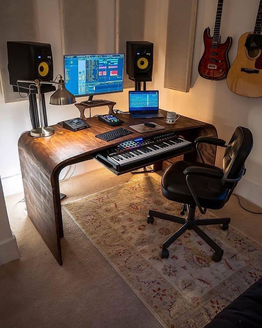 WFH desk and chair mat