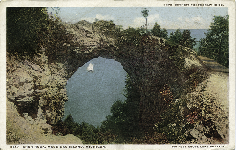 Postcard of Arch Rock in 1898