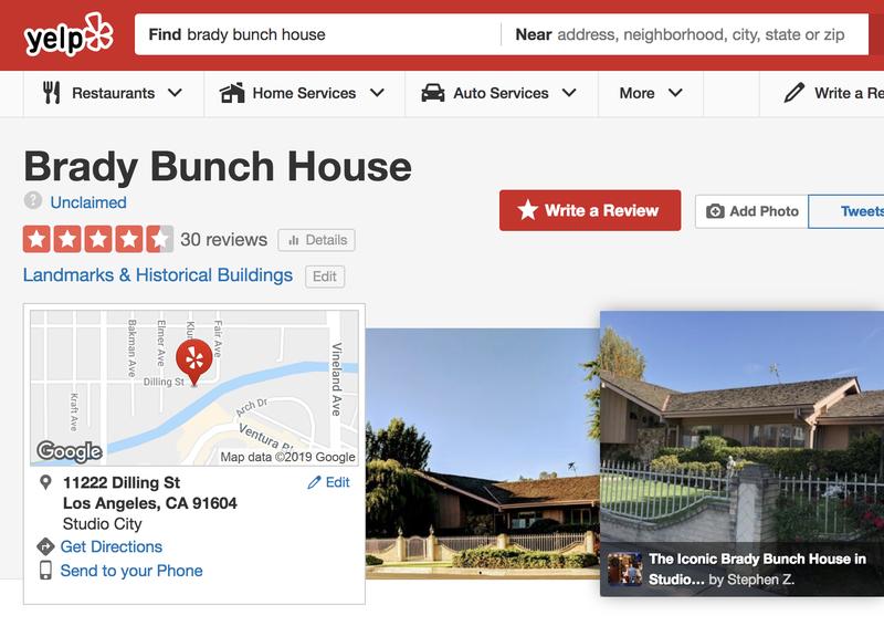 brady bunch house yelp