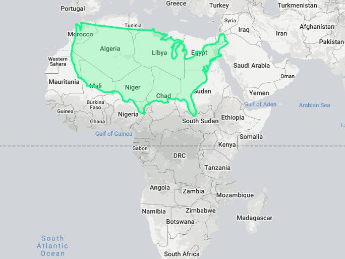 The U.S. compared to Africa