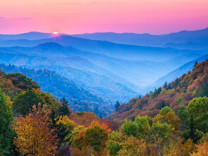Great Smoky Mountains in the fall