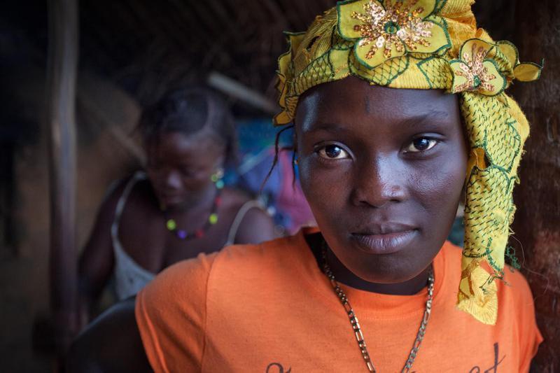 Portrait of a woman from Freetown, Sierra Leone