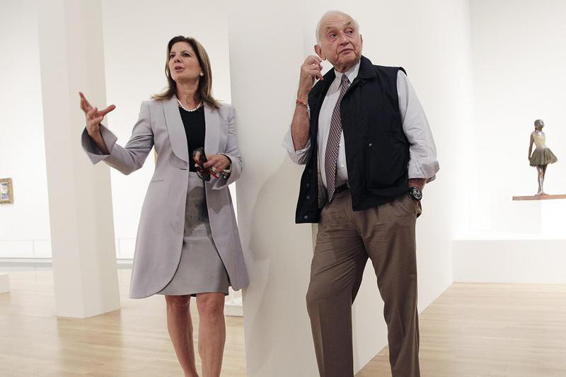 Leslie Wexner and his wife, Abigail