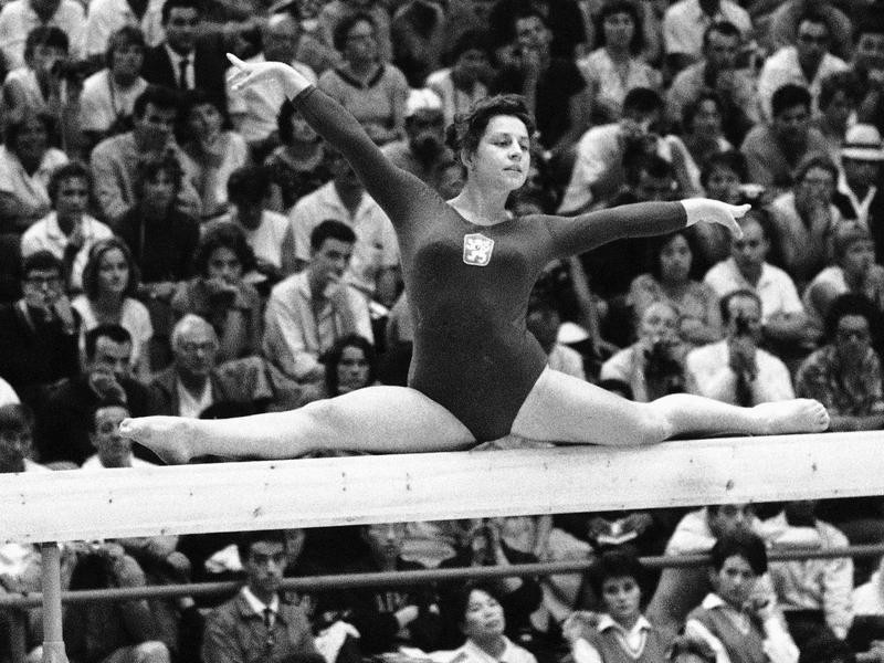 Vera Caslavska is one of the best women's gymnasts of all time