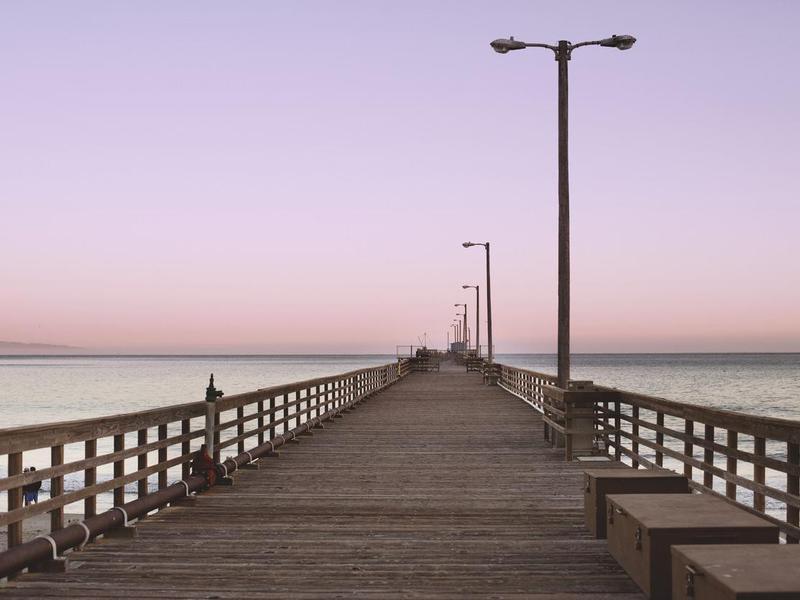 Avila Beach Pier at Dusk