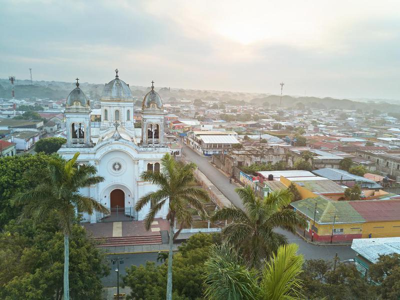 Sunrise in Diriamba town nicaragua
