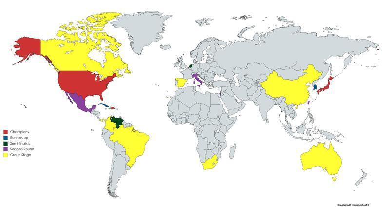 World Classic Baseball map