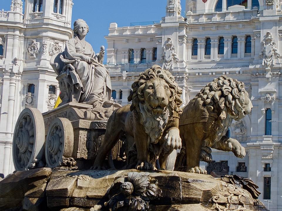 Cybele Fountain in Madrid, Spain
