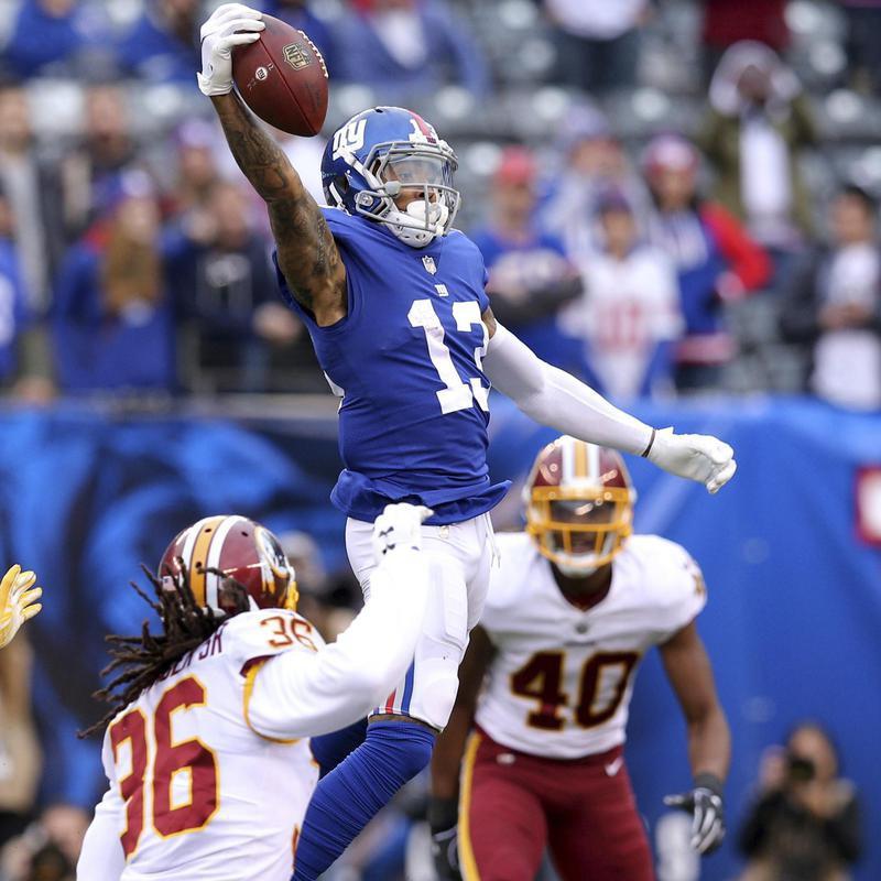 Odell Beckham Jr. makes one handed catch against Washington Redskins