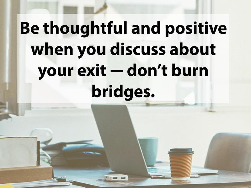 Practice your exit speech