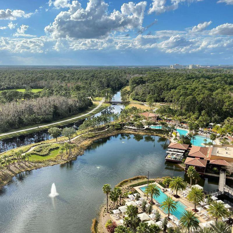Aerial view of Four Seasons Resort in Orland