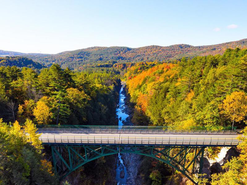 Aerial view of Quechee Gorge, Vermont