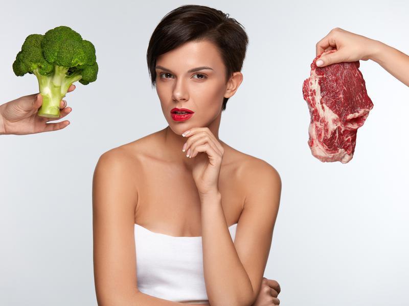 Broccoli and steak