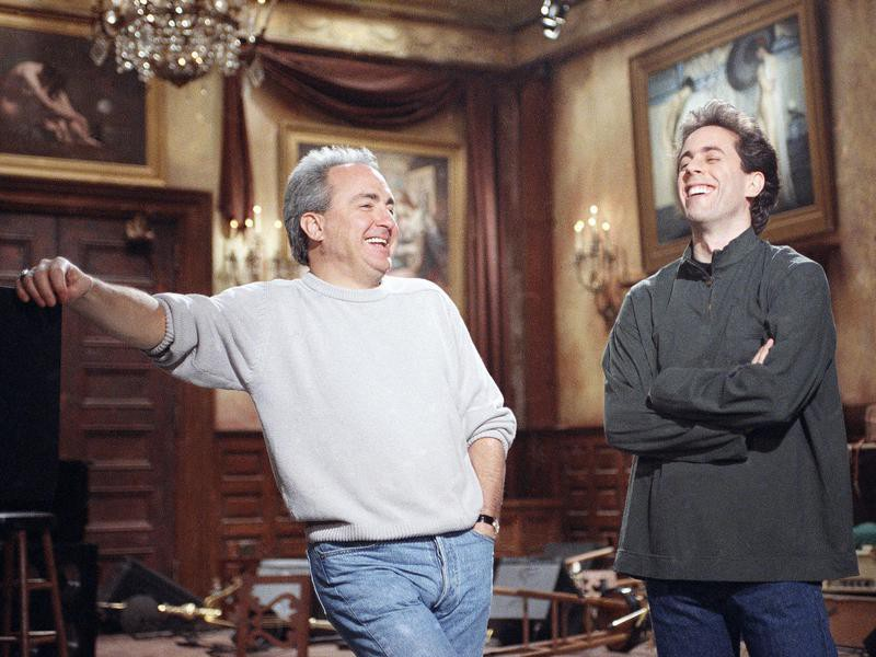 Jerry Seinfeld (right) and Lorne Michaels