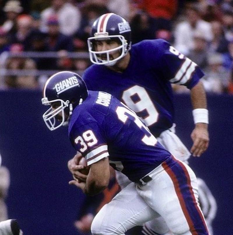 Joe Pisarcik hands off ball