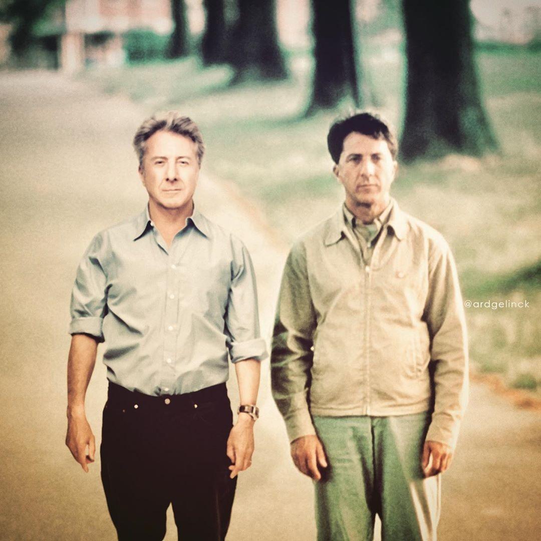 Dustin Hoffman and Raymond Babbitt