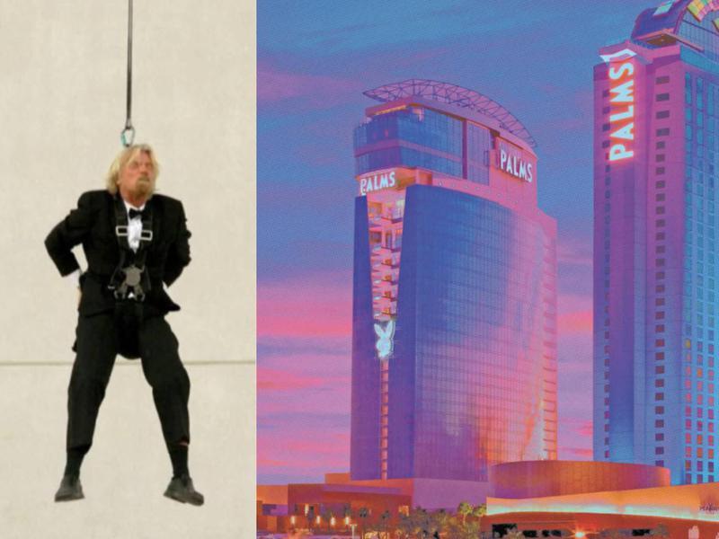 Richard Branson bungee jump