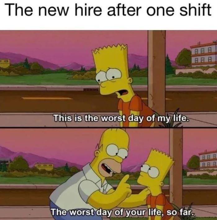 Simpsons worst day meme