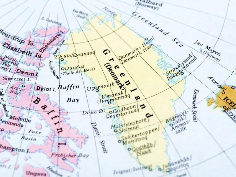 Map of Greenland (Denmark)
