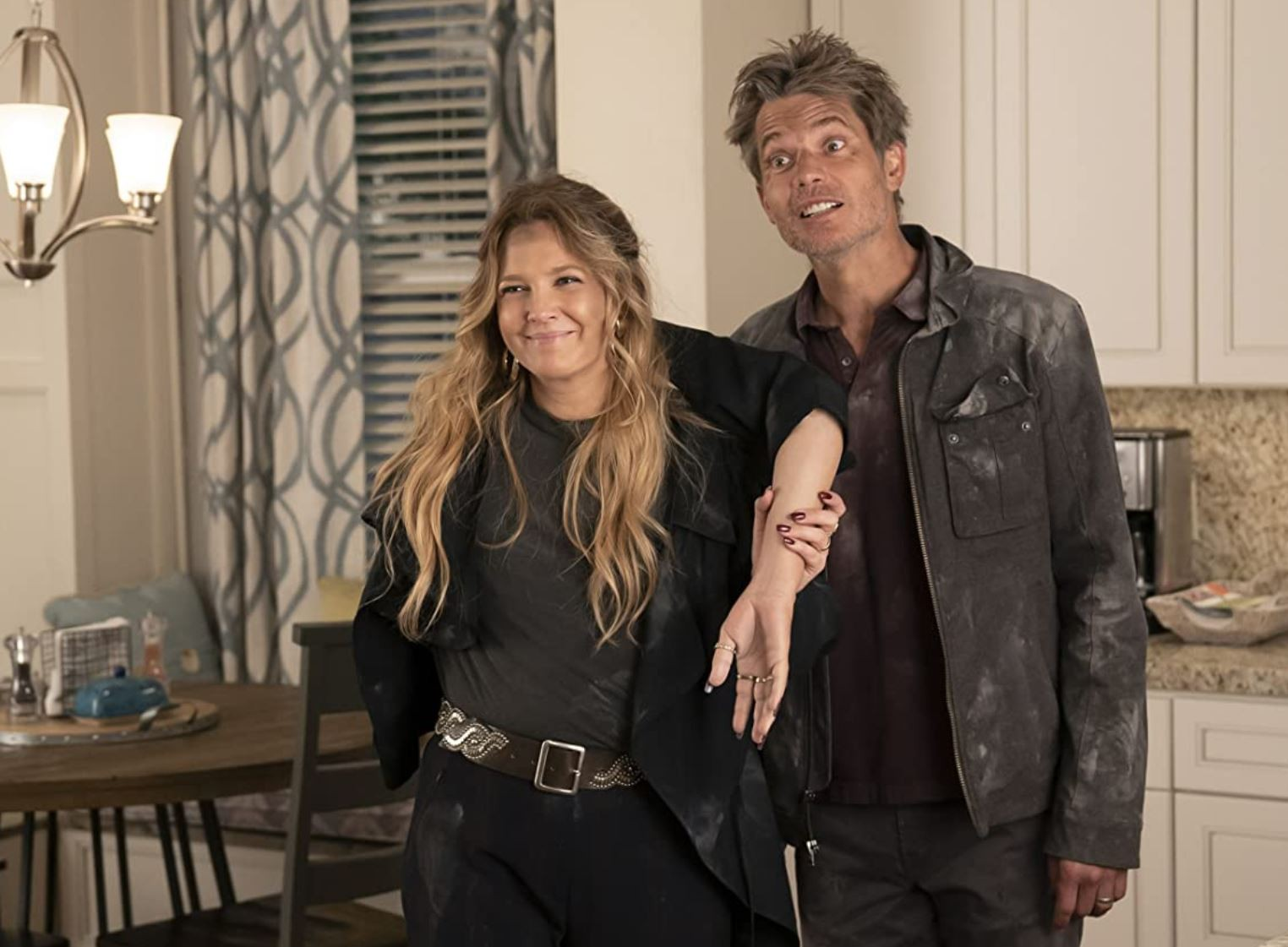 Drew Barrymore and Timothy Olyphant in Santa Clarita Diet
