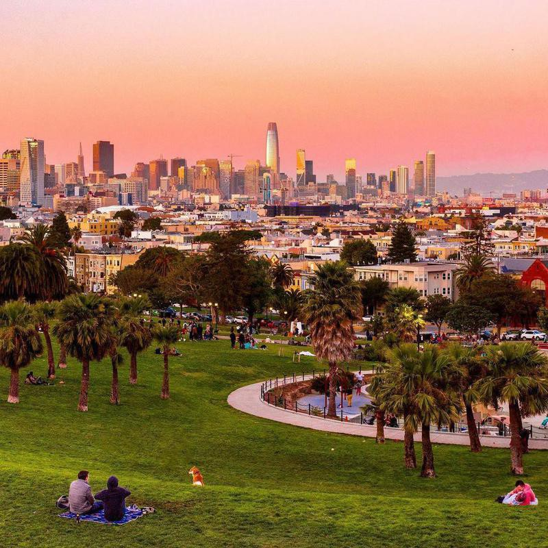 Sunset view from Dolores Park