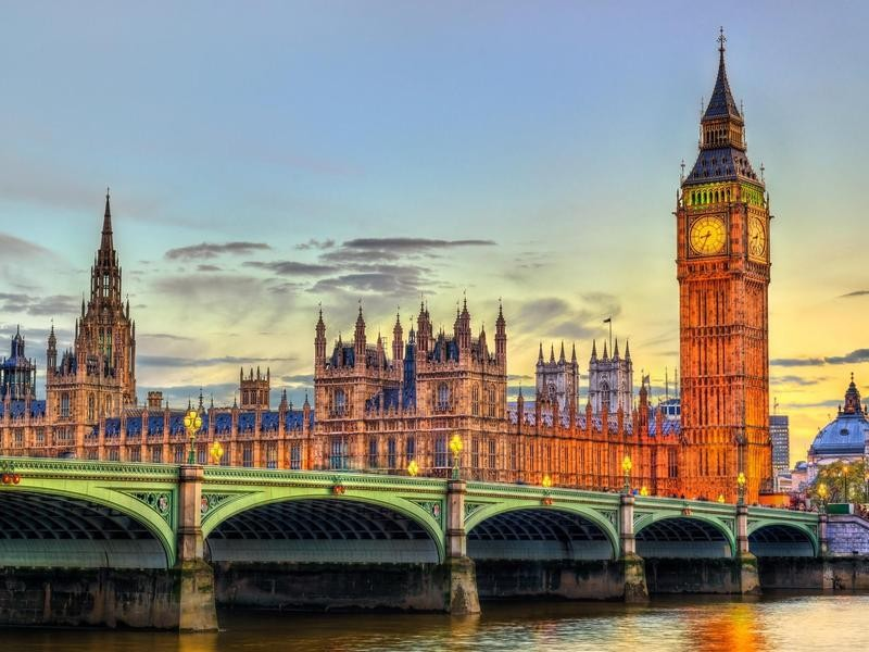 Westminster Palace and Westminster Bridge