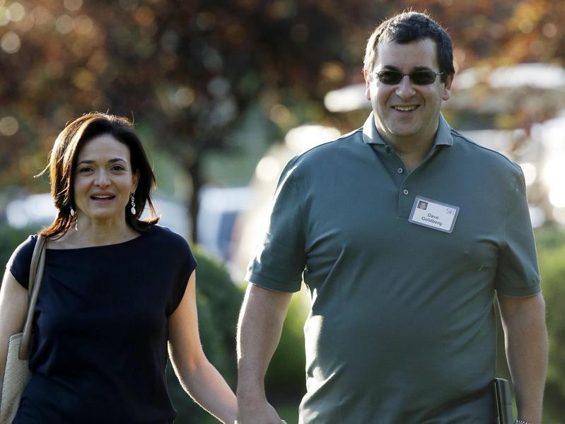 Sheryl Sandberg and her late husband David Goldberg
