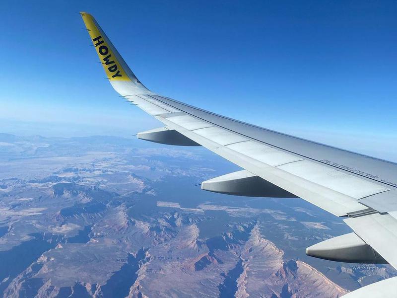 Landscape seen from Spirit Airlines window