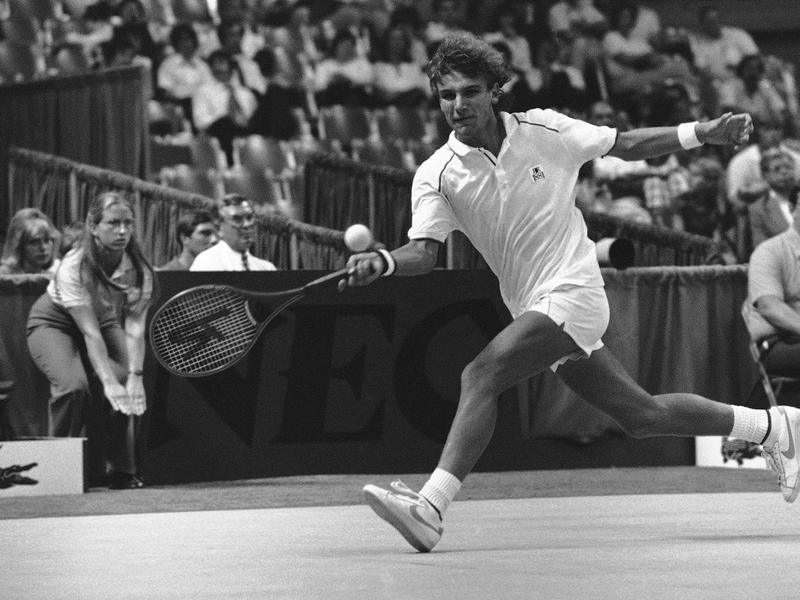 Swedish tennis player Mats Wilander