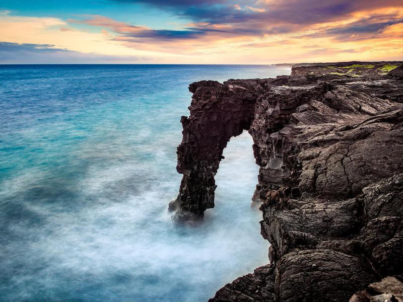 Holei Sea Arch in Hawaii Volcanoes National Park